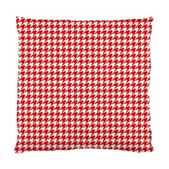 Friendly Houndstooth Pattern,red Standard Cushion Case (one Side)