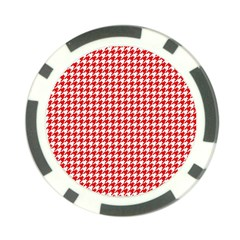 Friendly Houndstooth Pattern,red Poker Chip Card Guard (10 Pack)