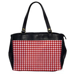 Friendly Houndstooth Pattern,red Office Handbags
