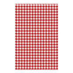 Friendly Houndstooth Pattern,red Shower Curtain 48  X 72  (small)