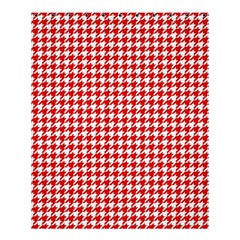 Friendly Houndstooth Pattern,red Shower Curtain 60  X 72  (medium)