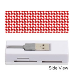Friendly Houndstooth Pattern,red Memory Card Reader (stick)