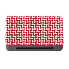 Friendly Houndstooth Pattern,red Memory Card Reader With Cf