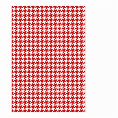 Friendly Houndstooth Pattern,red Small Garden Flag (two Sides)