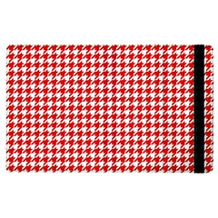 Friendly Houndstooth Pattern,red Apple Ipad 3/4 Flip Case