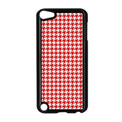 Friendly Houndstooth Pattern,red Apple Ipod Touch 5 Case (black)