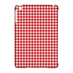Friendly Houndstooth Pattern,red Apple Ipad Mini Hardshell Case (compatible With Smart Cover)