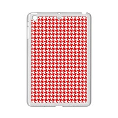 Friendly Houndstooth Pattern,red Ipad Mini 2 Enamel Coated Cases