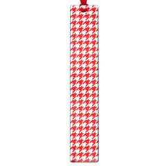 Friendly Houndstooth Pattern,red Large Book Marks