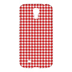 Friendly Houndstooth Pattern,red Samsung Galaxy S4 I9500/i9505 Hardshell Case