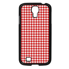 Friendly Houndstooth Pattern,red Samsung Galaxy S4 I9500/ I9505 Case (black)