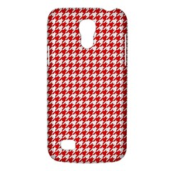Friendly Houndstooth Pattern,red Galaxy S4 Mini