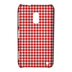 Friendly Houndstooth Pattern,red Nokia Lumia 620
