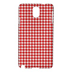Friendly Houndstooth Pattern,red Samsung Galaxy Note 3 N9005 Hardshell Case