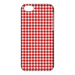 Friendly Houndstooth Pattern,red Apple Iphone 5c Hardshell Case