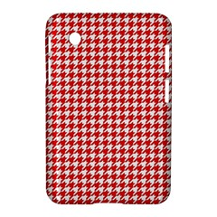 Friendly Houndstooth Pattern,red Samsung Galaxy Tab 2 (7 ) P3100 Hardshell Case
