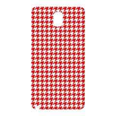 Friendly Houndstooth Pattern,red Samsung Galaxy Note 3 N9005 Hardshell Back Case