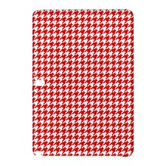 Friendly Houndstooth Pattern,red Samsung Galaxy Tab Pro 12 2 Hardshell Case