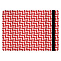 Friendly Houndstooth Pattern,red Samsung Galaxy Tab Pro 12 2  Flip Case