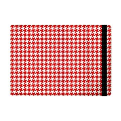 Friendly Houndstooth Pattern,red Ipad Mini 2 Flip Cases