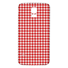 Friendly Houndstooth Pattern,red Samsung Galaxy S5 Back Case (white)
