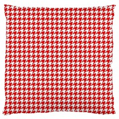 Friendly Houndstooth Pattern,red Large Flano Cushion Case (one Side)