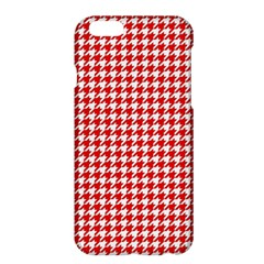 Friendly Houndstooth Pattern,red Apple Iphone 6 Plus/6s Plus Hardshell Case