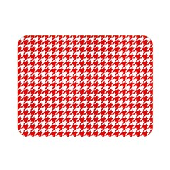 Friendly Houndstooth Pattern,red Double Sided Flano Blanket (mini)