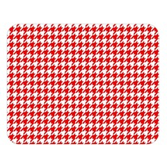 Friendly Houndstooth Pattern,red Double Sided Flano Blanket (large)