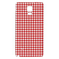 Friendly Houndstooth Pattern,red Galaxy Note 4 Back Case