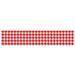 Friendly Houndstooth Pattern,red Flano Scarf (small)