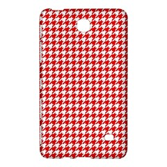 Friendly Houndstooth Pattern,red Samsung Galaxy Tab 4 (7 ) Hardshell Case