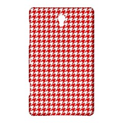 Friendly Houndstooth Pattern,red Samsung Galaxy Tab S (8 4 ) Hardshell Case