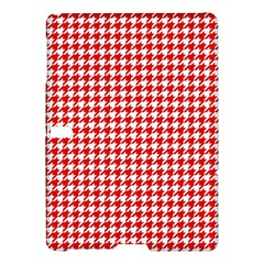 Friendly Houndstooth Pattern,red Samsung Galaxy Tab S (10 5 ) Hardshell Case