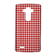 Friendly Houndstooth Pattern,red Lg G4 Hardshell Case