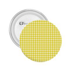Friendly Houndstooth Pattern,yellow 2 25  Buttons