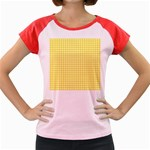Friendly Houndstooth Pattern,yellow Women s Cap Sleeve T-Shirt Front