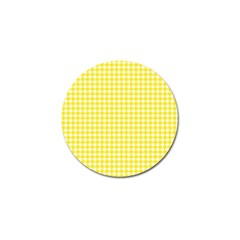 Friendly Houndstooth Pattern,yellow Golf Ball Marker