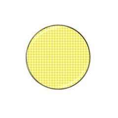 Friendly Houndstooth Pattern,yellow Hat Clip Ball Marker