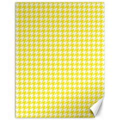 Friendly Houndstooth Pattern,yellow Canvas 12  X 16