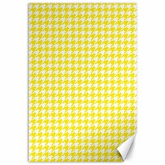 Friendly Houndstooth Pattern,yellow Canvas 12  X 18
