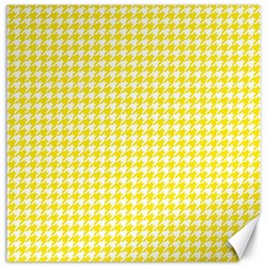 Friendly Houndstooth Pattern,yellow Canvas 20  X 20