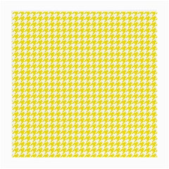 Friendly Houndstooth Pattern,yellow Medium Glasses Cloth