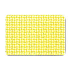 Friendly Houndstooth Pattern,yellow Small Doormat