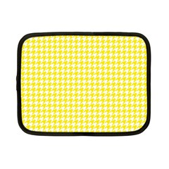 Friendly Houndstooth Pattern,yellow Netbook Case (small)