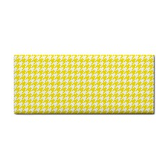 Friendly Houndstooth Pattern,yellow Cosmetic Storage Cases