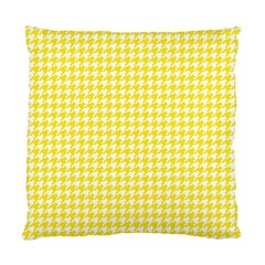 Friendly Houndstooth Pattern,yellow Standard Cushion Case (one Side)