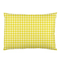 Friendly Houndstooth Pattern,yellow Pillow Case