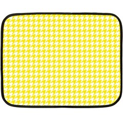Friendly Houndstooth Pattern,yellow Fleece Blanket (mini)