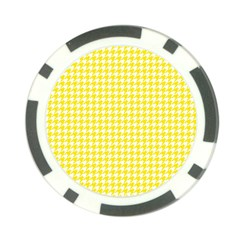 Friendly Houndstooth Pattern,yellow Poker Chip Card Guard (10 Pack)
